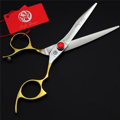 Purple Dragon 6.5inch Professional Hairdressing Scissors Gold Handle Hair Cutting Shears Barber Tool High Quality Japanese 440c