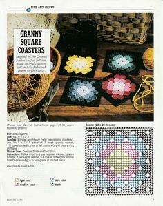 Granny Squares Coasters in Plastic Canvas by TamarasTraditions