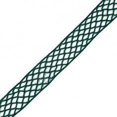 """Emerald Criss Cross Chenille Trim - 2"""""""