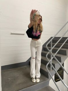 Indie Outfits, Edgy Outfits, Pretty Outfits, Cool Outfits, Fashion Outfits, Summer Outfits For Teens, Spring Outfits, Mode Inspiration, Streetwear Fashion