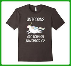 Mens Retro Vintage Born November 2nd Funny Unicorn Birthday Tee 3XL Asphalt - Retro shirts (*Amazon Partner-Link)