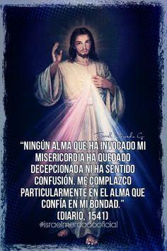 Spiritual Prayers, Catholic Prayers, Jesus Mercy, Jesus Christ, Diario Santa Faustina, Faustina Kowalska, Spanish Prayers, Strong Faith, Divine Mercy