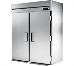 "TRUE Roll-Thru Heated Cabinet, Roll-thru, two-section, for 27""W x 29""D x 66""H carts (not included), 36-7/8"" deep, top mount, stainless steel doors & rainshield, aluminum ends, aluminum interior with stainless steel floor, (4) stainless steel doors with cam-lift hinging"