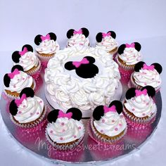 Minnie Mouse 1st Birthday Smash Cake &  Cupcakes