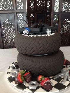 Awesome Camaro grooms cake for any car lover!