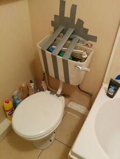 Ces toilettes superbement réparées. | 20 fails de DIY vraiment horribles