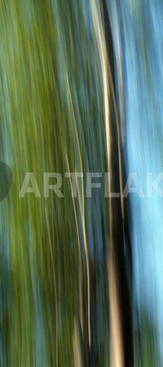 """""""father and son"""" von Bernd Hoyen #fotografie #photography #fotokunst #photoart #digitalart #kunst #art #baum #bäume #tree #trees #abstrakt #abstract #blau #blue #braun #brown #grün #green #verwischung #verwischt #blurred #unscharf #blurring #verschwommen #blurry #natur #nature #schweden #sweden #smaland"""