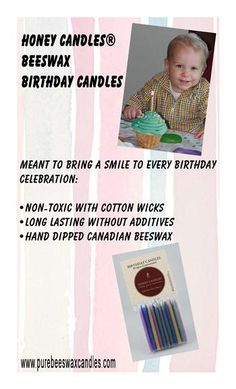 Safe and Natural - Pure Beeswax Birthday Candles