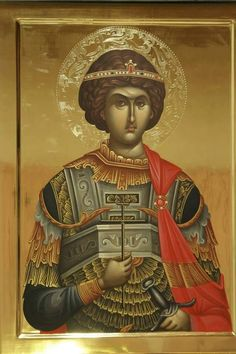 foto van N Theologhia Baba. Byzantine Icons, Byzantine Art, Religious Icons, Religious Art, Saints And Soldiers, Russian Icons, Icon Collection, Art Icon, Saint George