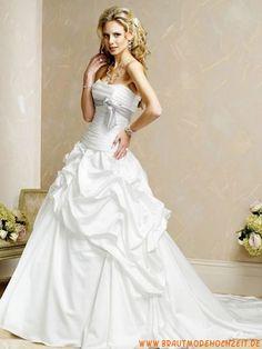 2012 Elegante Brautmode frankfurt aus Taft mit langer Schleppe online