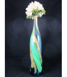 Product of the Day! One of a Kind Hand-painted and Swarovski Embellished Bud Vase!    10% off if ordered by 11:59 PM EST November 11, 2012! Coupon Code: 2222    http://glamsparklenglitz.com/Home_Decor_Home_Gifts/Bud_Vase