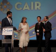 (L-r) Masrur Javed Khan, president of the Islamic Society of Greater Houston and recipient of CAIR's Muslim of the Year Award, with CAIR national board chair Ro...