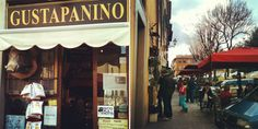 Gustapanino - one of the best sandwich shops in Florence. Try the freshly grilled focaccia roll.