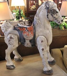 1940's toy riding horse.