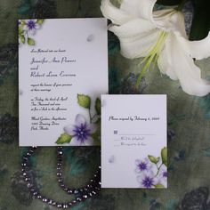 purple flower elegant inexpensive spring wedding invitation EWI147 as low as $0.94