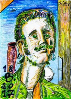 The Rockabilly Song, 2017 by J.G.Wind - Metaphysical drawing in the manner of Giorgio de Chirico / Pittura metafisica / Neo-metaphysical art  / Rockabilly art