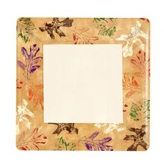 """This is our @KingZakIndInc #HannaKSignature  #Leaves #square paper pattern. This #Disposable 7"""" plate is part of a matching set. (Sold Separately) Set includes 10"""" Paper Plate, 7"""" Paper Plate, Lunch Napkin, Bistro napkin, 9 ounce paper cup, 12 ounce paper cup, 16 ounce paper cup, 16 ounce paper cup with a black plastic lid  and a Plastic Tablecover. Also available in single packages via Amazon."""