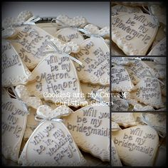 #wedding I LOVE THIS!  As a girl who loves cookies and loves to bake, this is the cutest idea EVER <3 :)