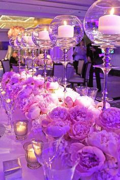46 Ideas for diy wedding centerpieces purple votive candles Purple Wedding Centerpieces, Diy Centerpieces, Wedding Decorations, Quinceanera Centerpieces, Mod Wedding, Wedding Day, Trendy Wedding, Wedding Blog, Luxury Wedding