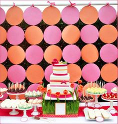 Dessert table backdrop, sub with shades of purple