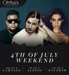 Get your tickets for this July 4th weekend at Omnia San Diego now!!! \\\ https://ticketdriver.com/amg/buy/tickets/venue/1548 /// _ _