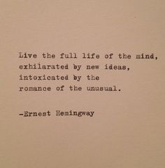 Hemingway Quote Typed on Typewriter by farmnflea on Etsy, $9.00