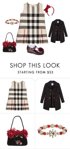 """""""Rose Girl Outfit"""" by bornintowealth ❤ liked on Polyvore featuring Burberry, Patachou, Moschino, Monnalisa Chic and David Charles"""