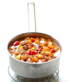 "Chakalaka, enjoyed with ""pap""(mealie meal porridge)"