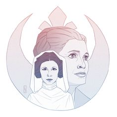 Princess Leia / General Organa / Carrie Fisher by dreln
