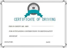 Defensive driving certificate templates | Safe Driving Certificate ...
