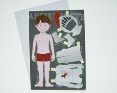 Basteln - Postkarte -RITTER- - ein Designerstück von Fische-und-Schafe bei DaWanda