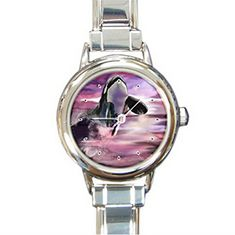 DIB179Marine Life Big Whale jumping high round charm watch ** Check this out by going to the link at the image.