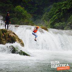 Ven a vivir la emoción con el salto de cascadas en Río Micos    #WeLoveAdventure www.rutahuasteca.com +52 481 381 7358 WhatsApp: 481.116.5900 email: info@rutahuasteca.com #RutaHuasteca #SLP #Ecoturismo #TurismoDeNaturaleza #VisitMéxico #Tours #TodoIncluido