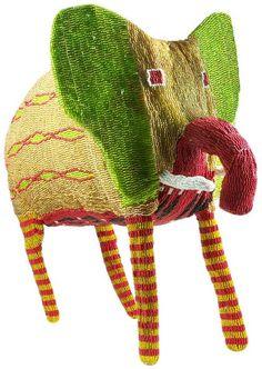 African, ethnic and tribal folk art Elephant Love, Elephant Art, African Elephant, South African Design, Afrique Art, Elephant Illustration, Arte Popular, Beaded Animals, Bead Art