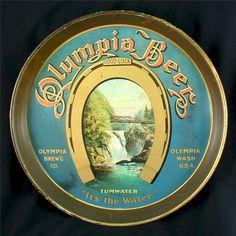 Vintage - Olympia Brewing Co of Olympia - Washington - USA - Olympia Beer - Tray -  1910