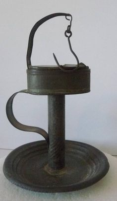 19th Century Early Lighting 'IPSWICH BETTY' GREASE LAMP