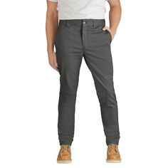 Dickies Men's Slim Skinny Fit Flex Twill Pant- Gravel Gray 36x30