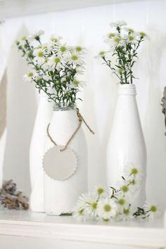 paint glass bottles white