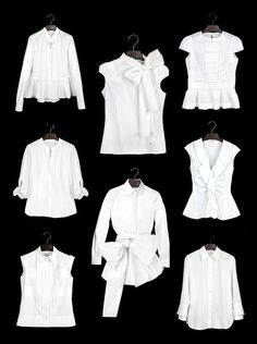 White Shirt Collection by Carolina Herrera - preppy, my style, wardrobe staples, Classic White Shirt, Crisp White Shirt, White Shirts, White Blouses, Blusas Carolina Herrera, Ch Carolina Herrera, Trends 2018, Mode Inspiration, Timeless Fashion