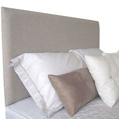 Add a touch of refined texture to your sleep space with the Hugh Upholstered Bed Head, Wall Mounting from Cornermill.