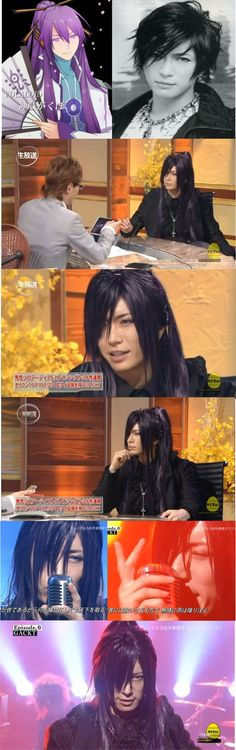 Japanese singer Gackt as Gakupo/Gackpoid. He does the voice of the character in the game.