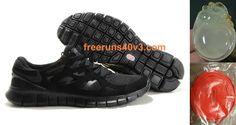 Mens Nike Free Run 2 Black Anthracite Shoes