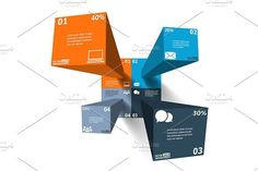 Modern 3d infographics. UI Elements