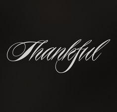 thankful - thank you!