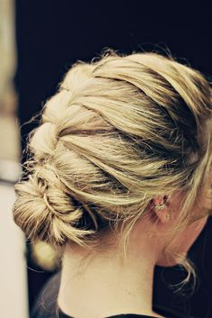 French Braided messy bun!