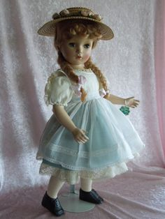 Old Dolls, Antique Dolls, Vintage Dolls, Childhood Toys, Childhood Memories, Madame Alexander Dolls, Alexander The Great, Hello Dolly, White Satin