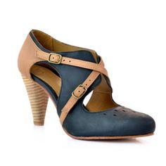 J Shoes Cherry - black Gold/Tan