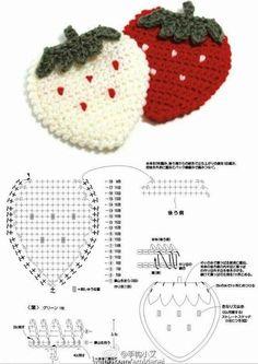 New Ideas For Crochet Coasters Holder Crochet Diy, Crochet Motifs, Crochet Diagram, Crochet Chart, Crochet Doilies, Crochet Flowers, Crochet Stitches, Freeform Crochet, Fruits En Crochet