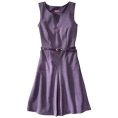 Merona® Women's Belted Texture Dress w/Front Pleat - Assorted Colors