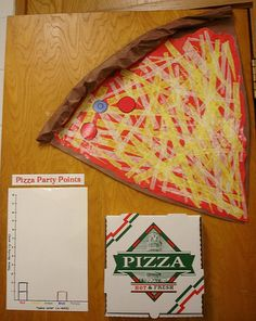 """This pizza system is from Classroom Displays blog. Students earn toppings with good behavior. When the pizza is all made, the class wins a pizza lunch."""